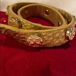 Gold Tory Burch wrap bracelet